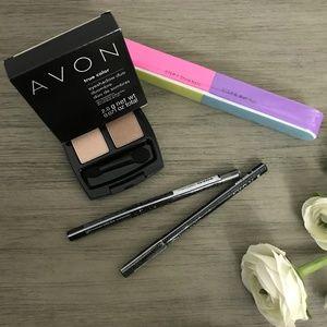 Avon Eye-shadow and Eye-liners Bundle w/ Nail file